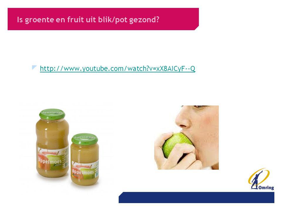 Is groente en fruit uit blik/pot gezond