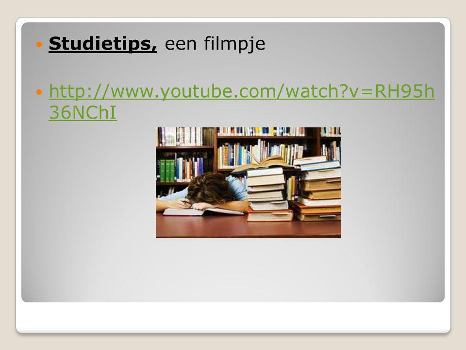 Studietips, een filmpje