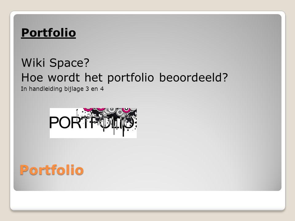 Portfolio Portfolio Wiki Space Hoe wordt het portfolio beoordeeld