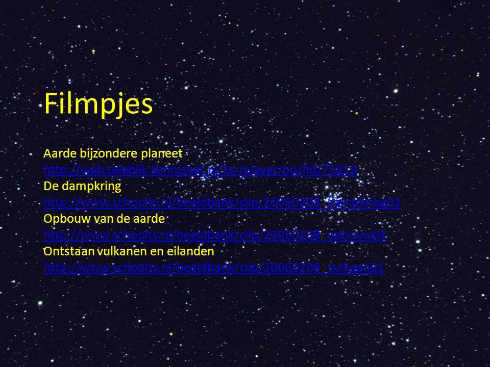 Filmpjes Aarde bijzondere planeet