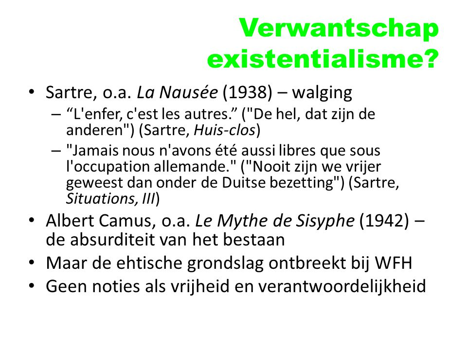 Verwantschap existentialisme