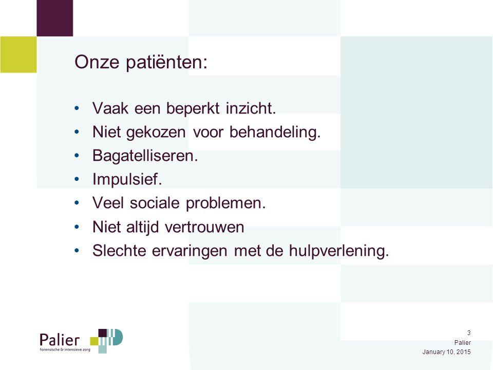 Onze patiënten: Vaak een beperkt inzicht.