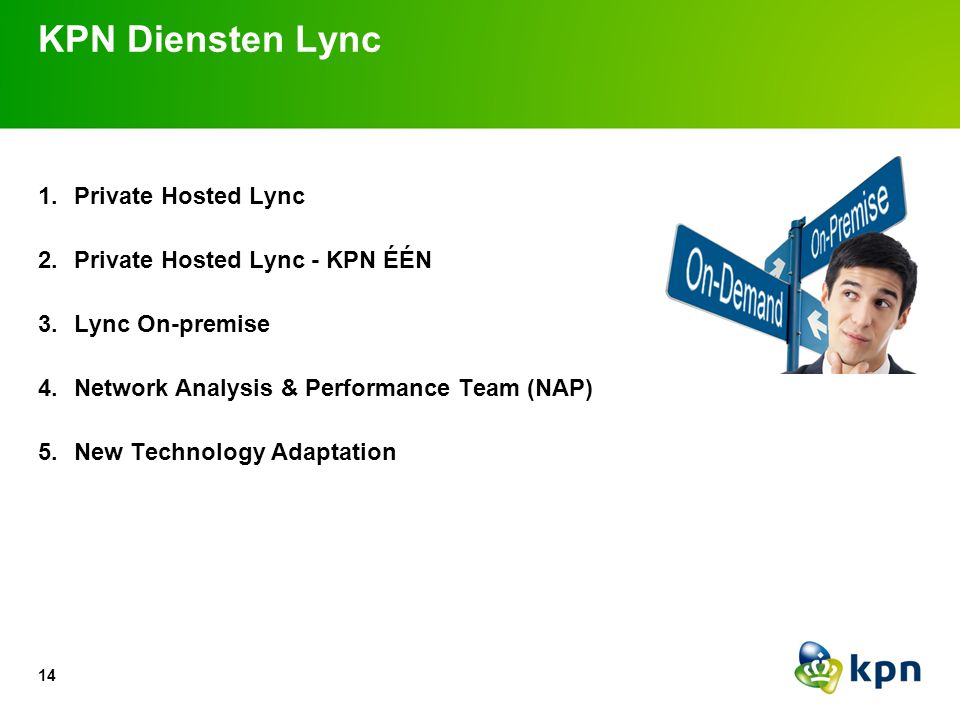 Propositie KPN: Private Hosted Lync