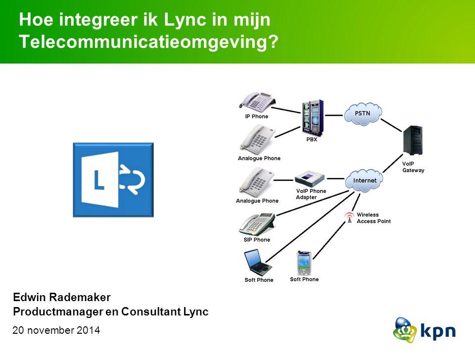 New Technology Adaptation Implementatie van Lync draait niet alleen om techniek