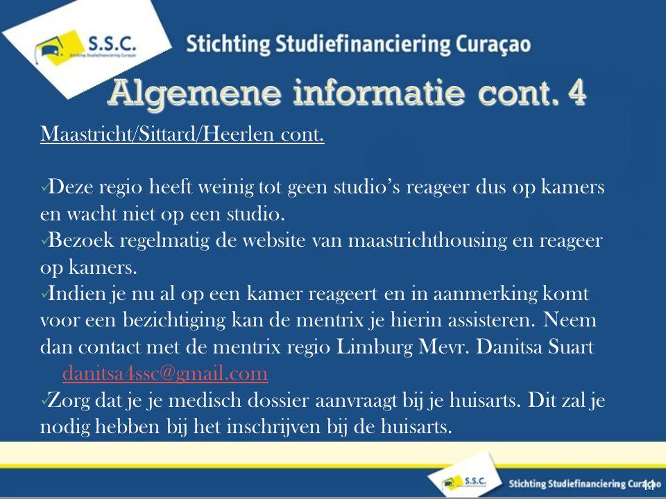Algemene informatie cont. 4