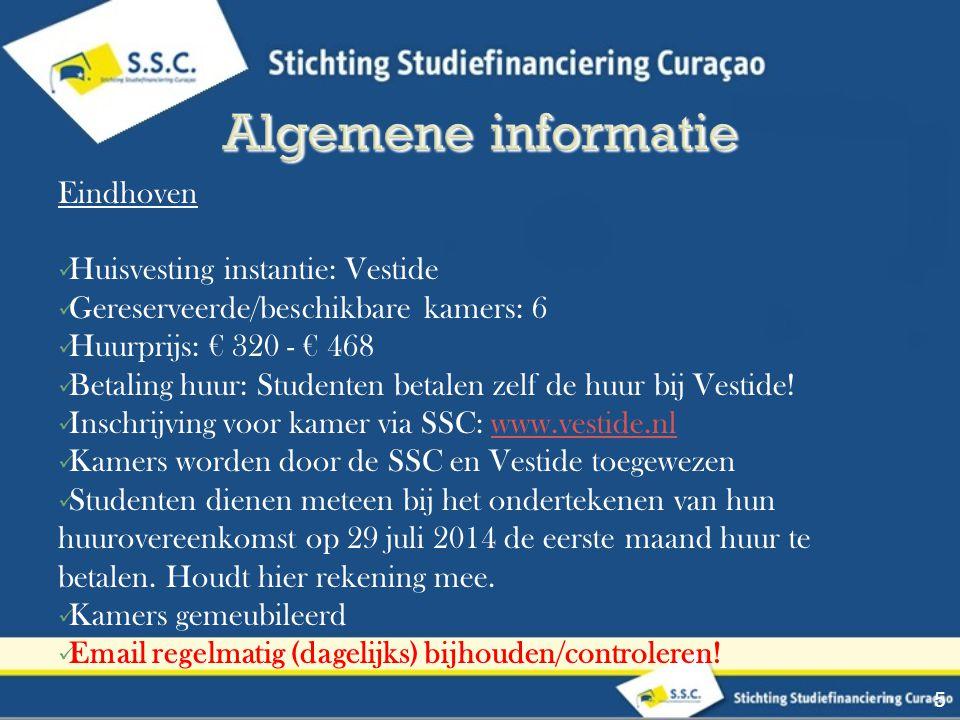 Algemene informatie Eindhoven Huisvesting instantie: Vestide
