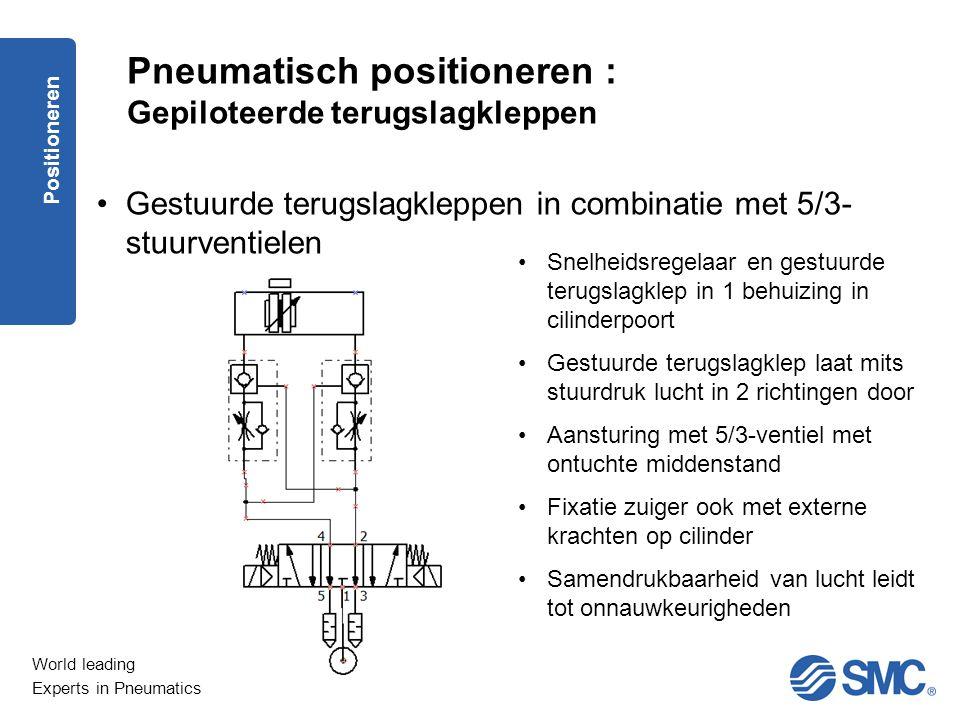 Pneumatisch positioneren : Gepiloteerde terugslagkleppen