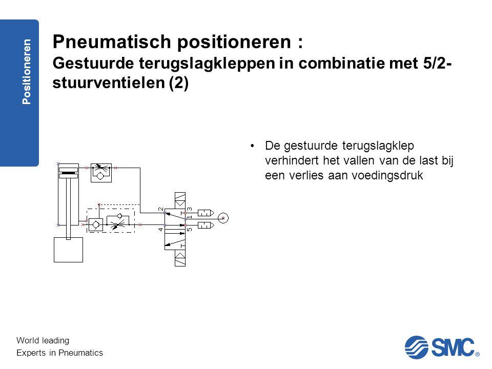 Pneumatisch positioneren : Gestuurde terugslagkleppen in combinatie met 5/2-stuurventielen (2)