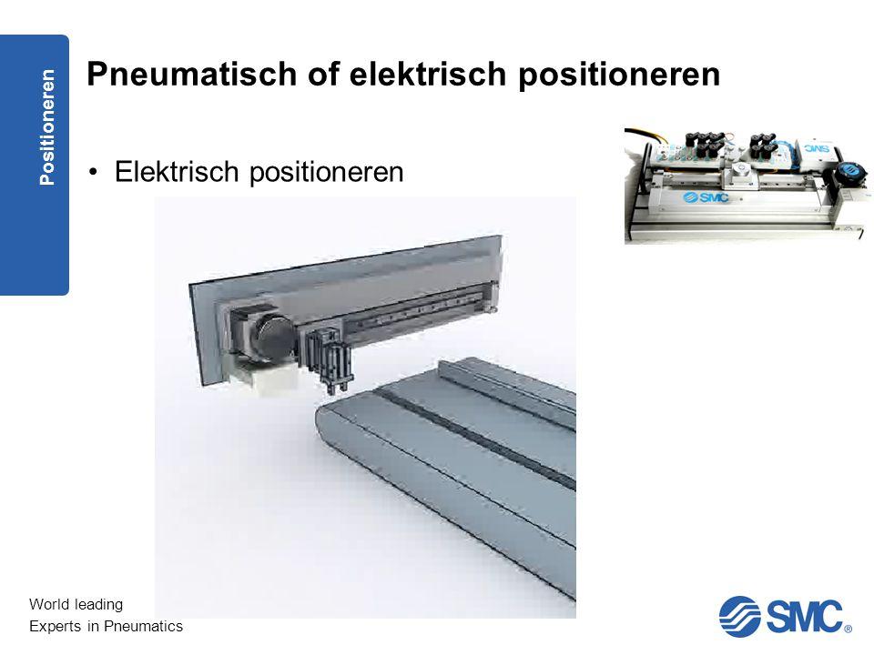 Pneumatisch of elektrisch positioneren