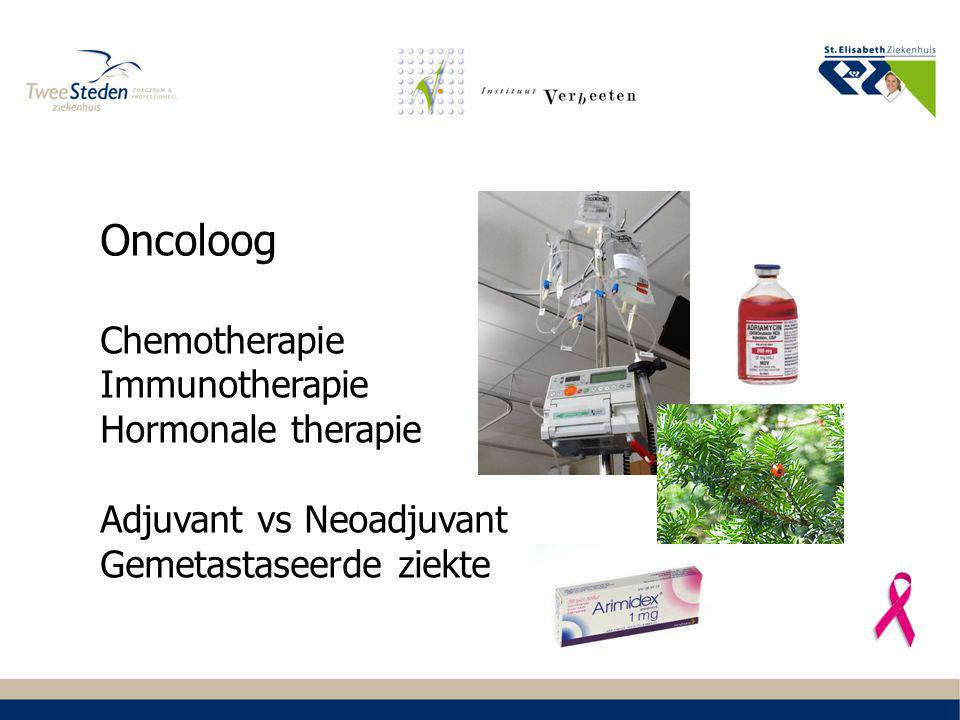 Oncoloog Chemotherapie Immunotherapie Hormonale therapie