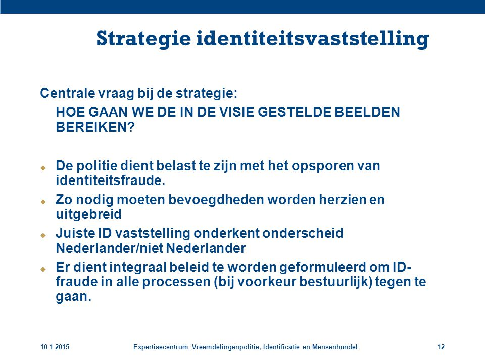 Strategie identiteitsvaststelling