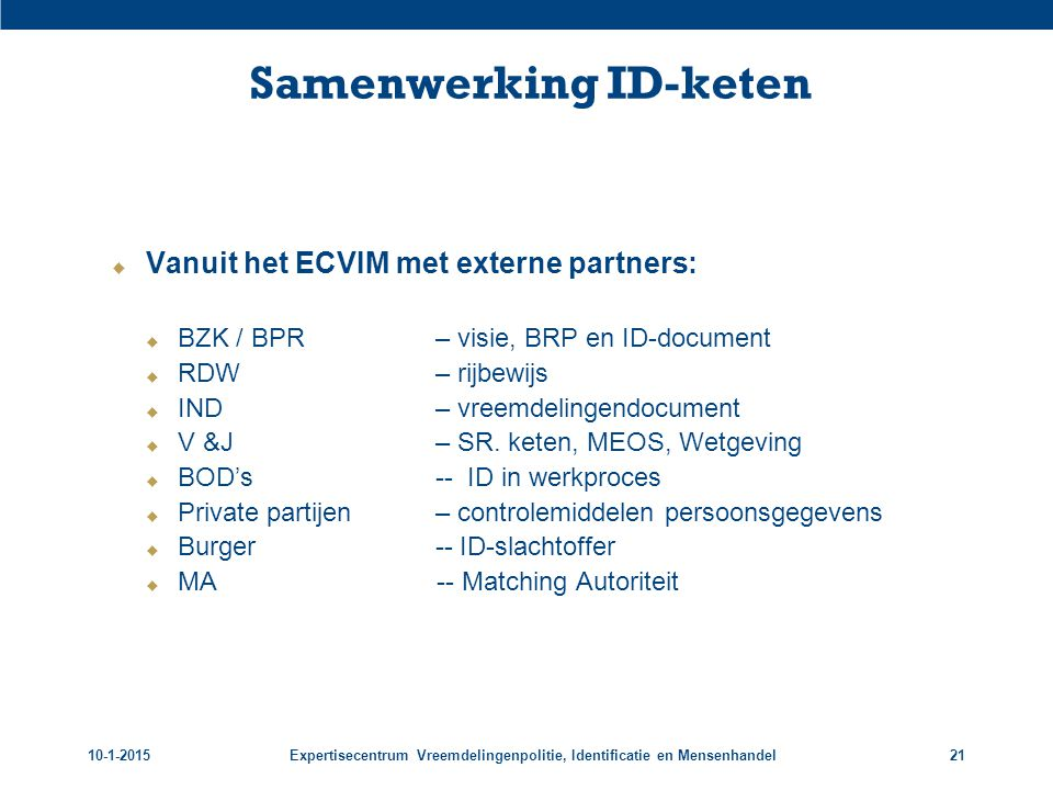 Samenwerking ID-keten