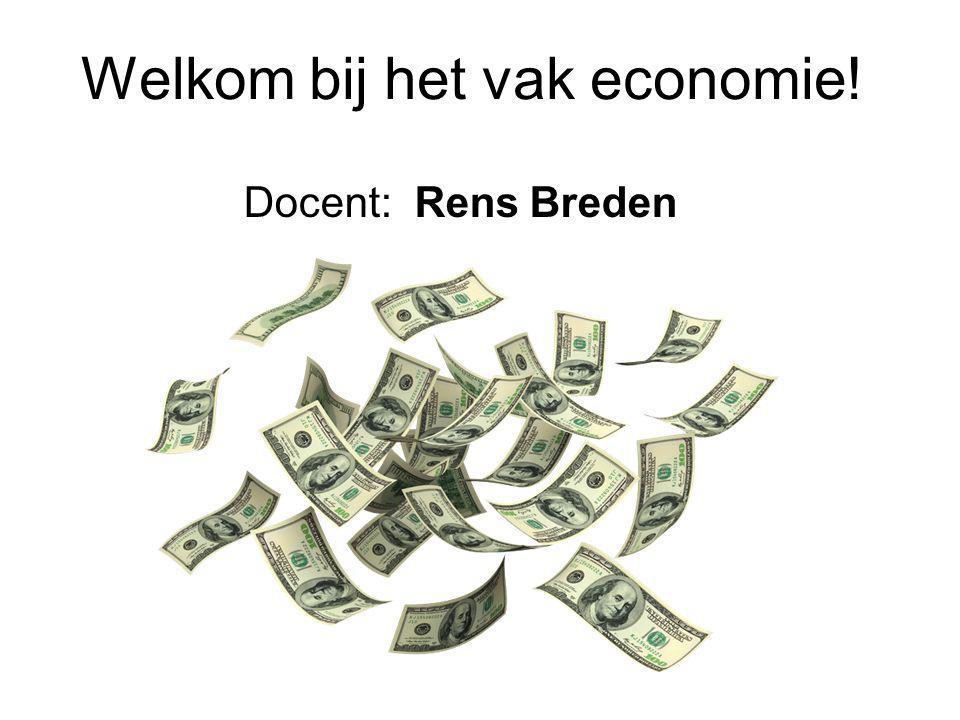 Welkom bij het vak economie!