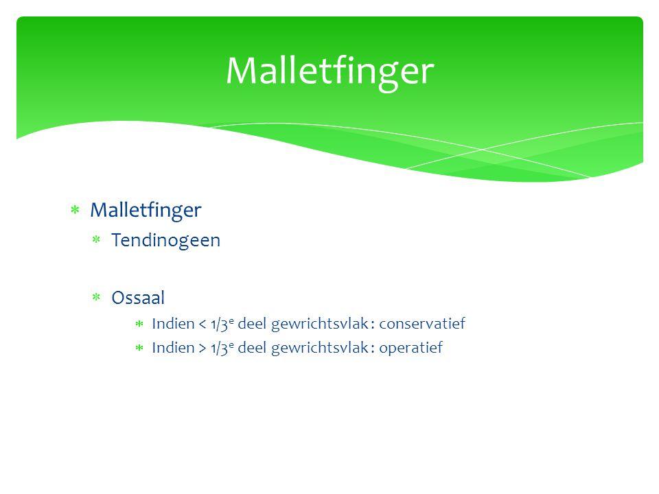Malletfinger Malletfinger Tendinogeen Ossaal