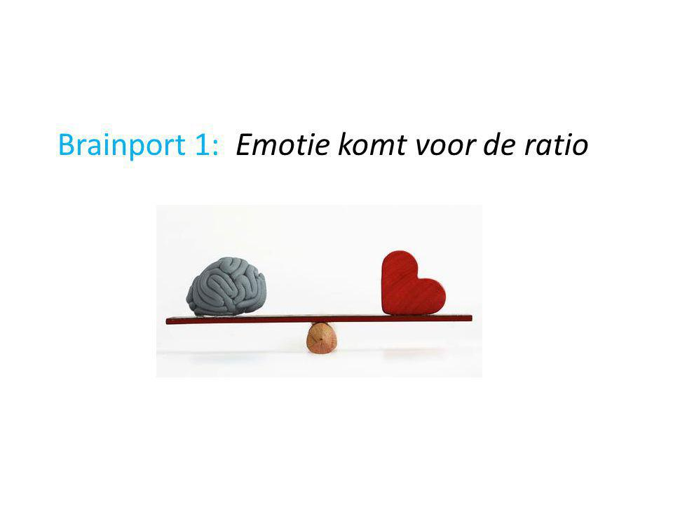 Brainport 1: Emotie komt voor de ratio