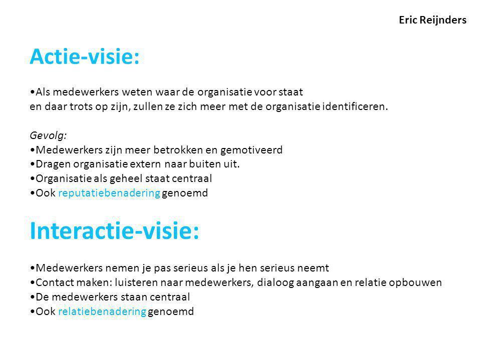 Interactie-visie: Actie-visie: Eric Reijnders