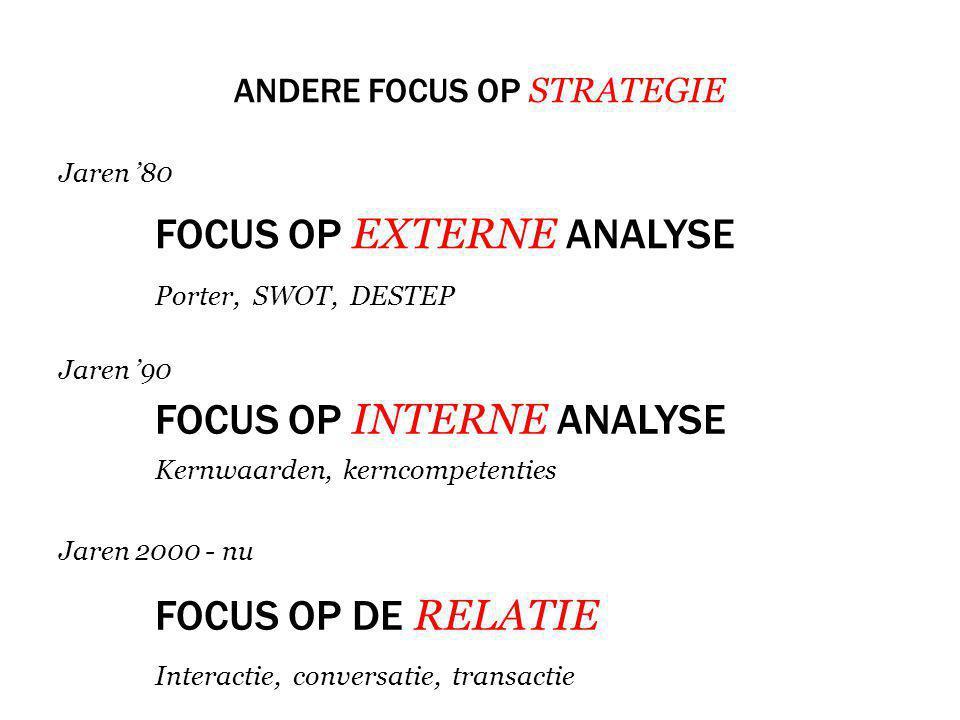 Andere focus op strategie