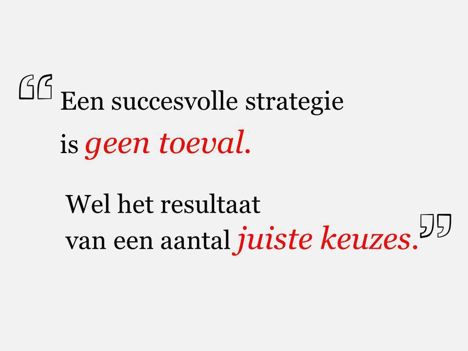 Een succesvolle strategie is geen toeval.