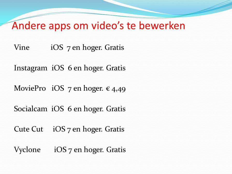 Andere apps om video's te bewerken