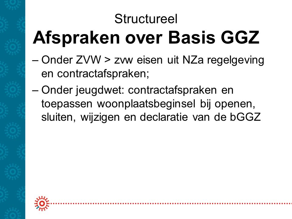 Structureel Afspraken over Basis GGZ