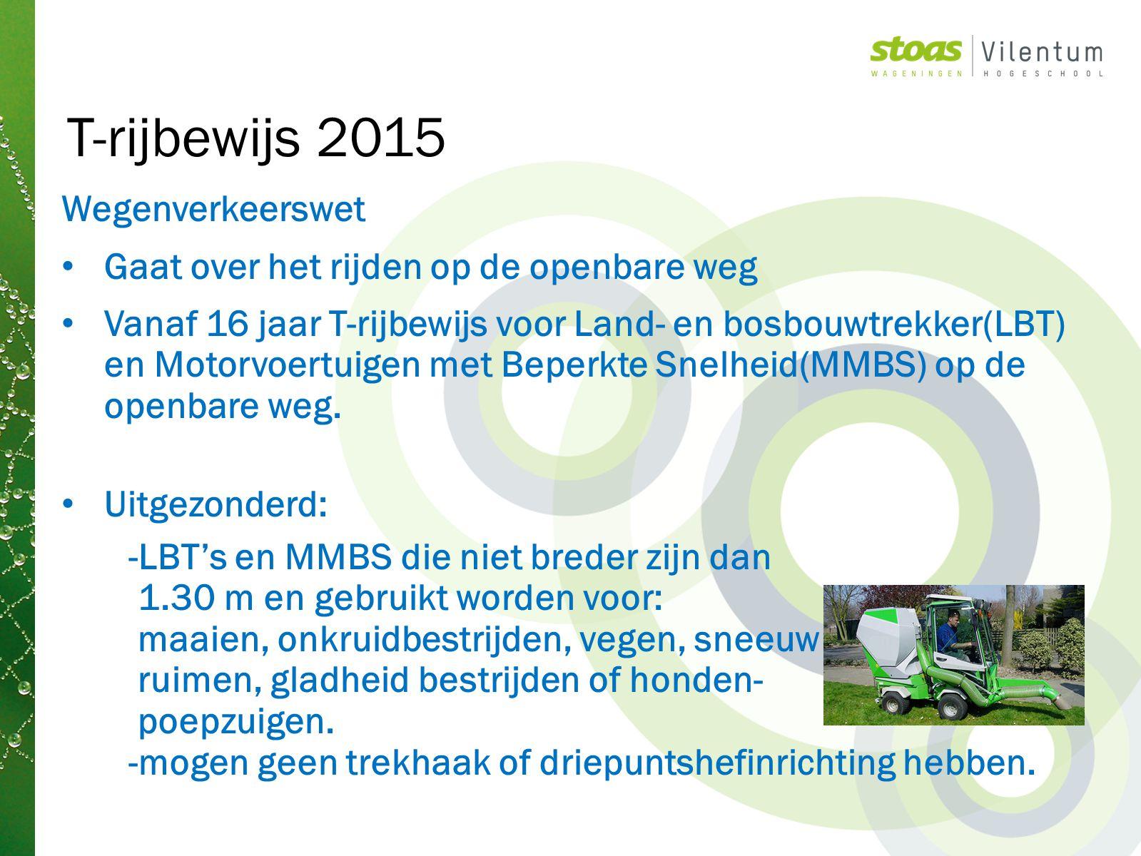 T-rijbewijs 2015 Wegenverkeerswet