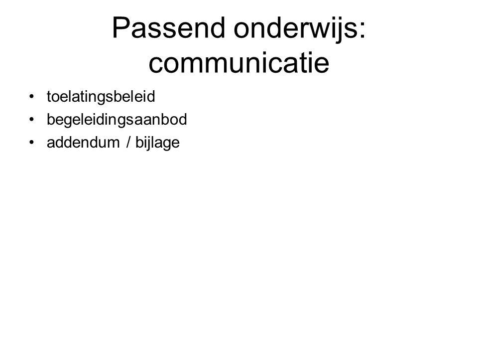 Passend onderwijs: communicatie