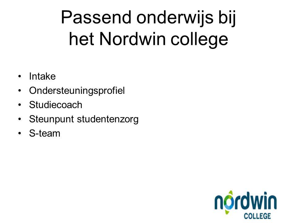Passend onderwijs bij het Nordwin college