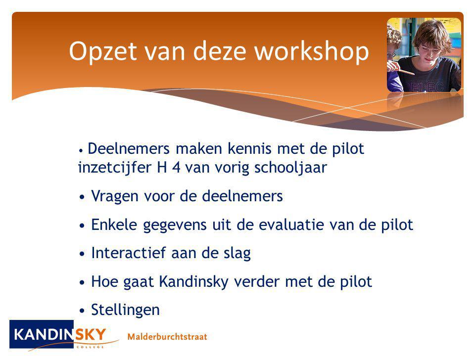 Opzet van deze workshop