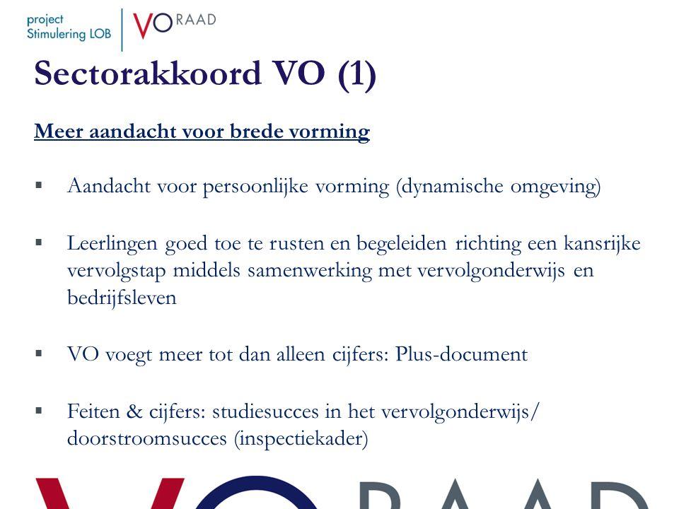 Sectorakkoord VO (1) Meer aandacht voor brede vorming