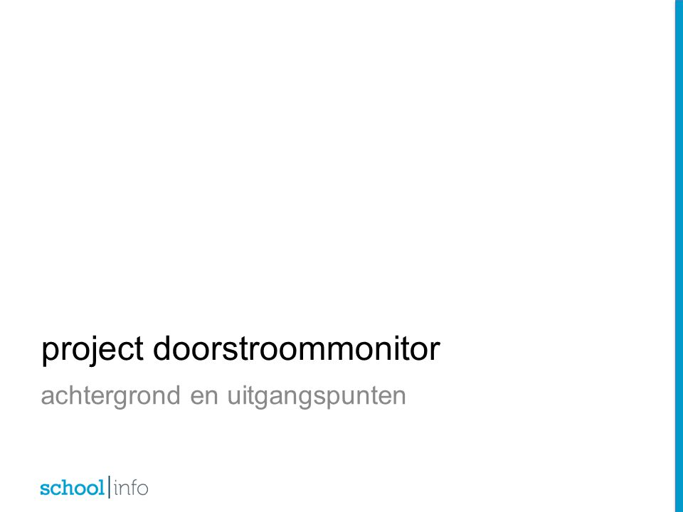 project doorstroommonitor