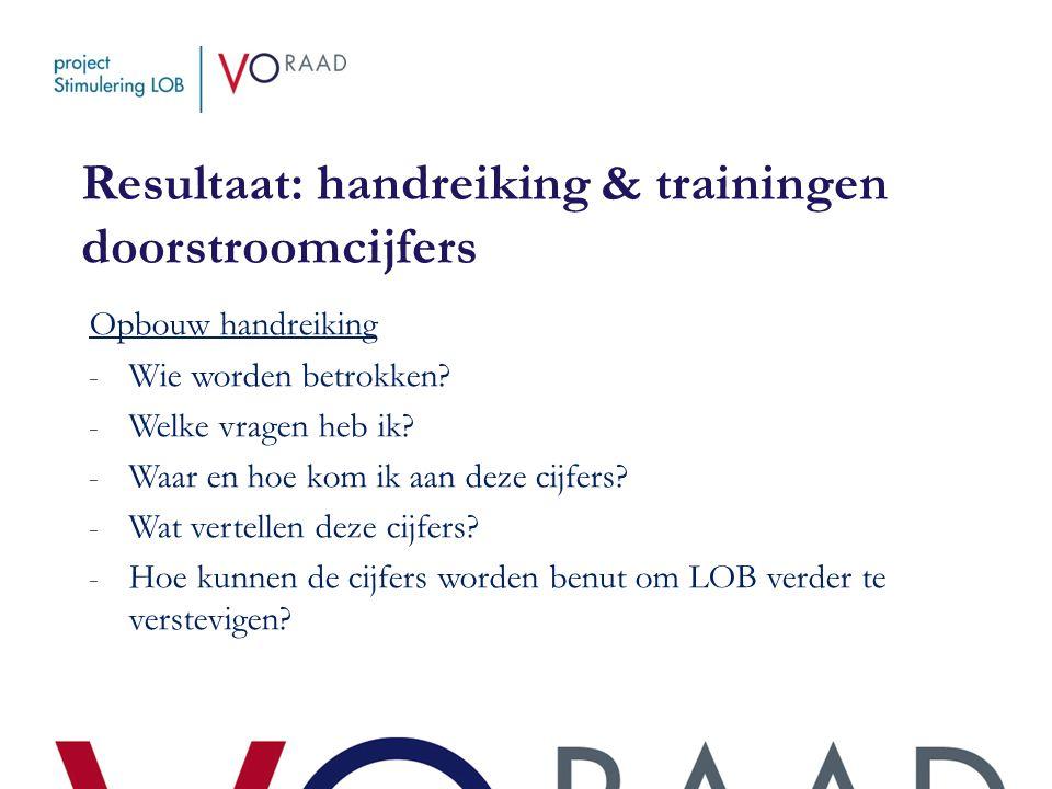 Resultaat: handreiking & trainingen doorstroomcijfers