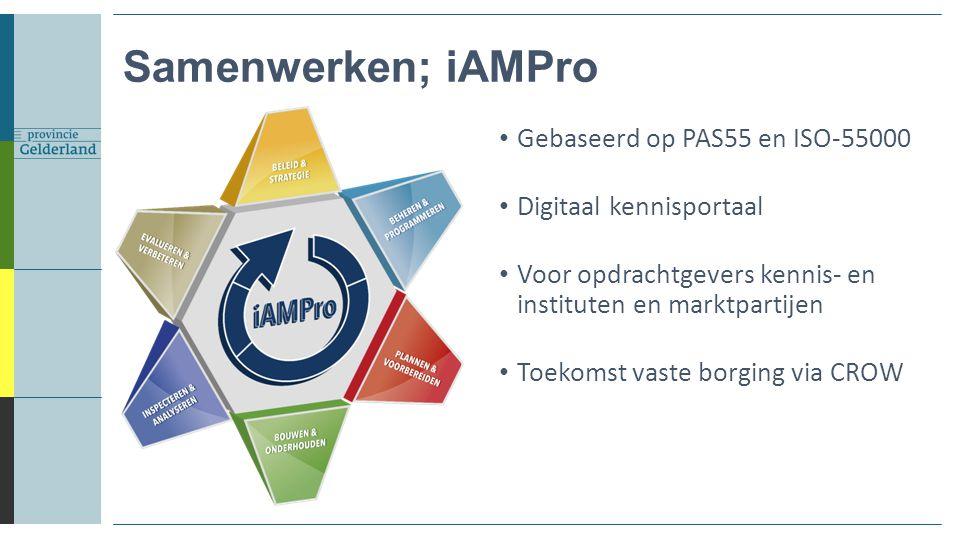 Samenwerken; iAMPro Gebaseerd op PAS55 en ISO-55000
