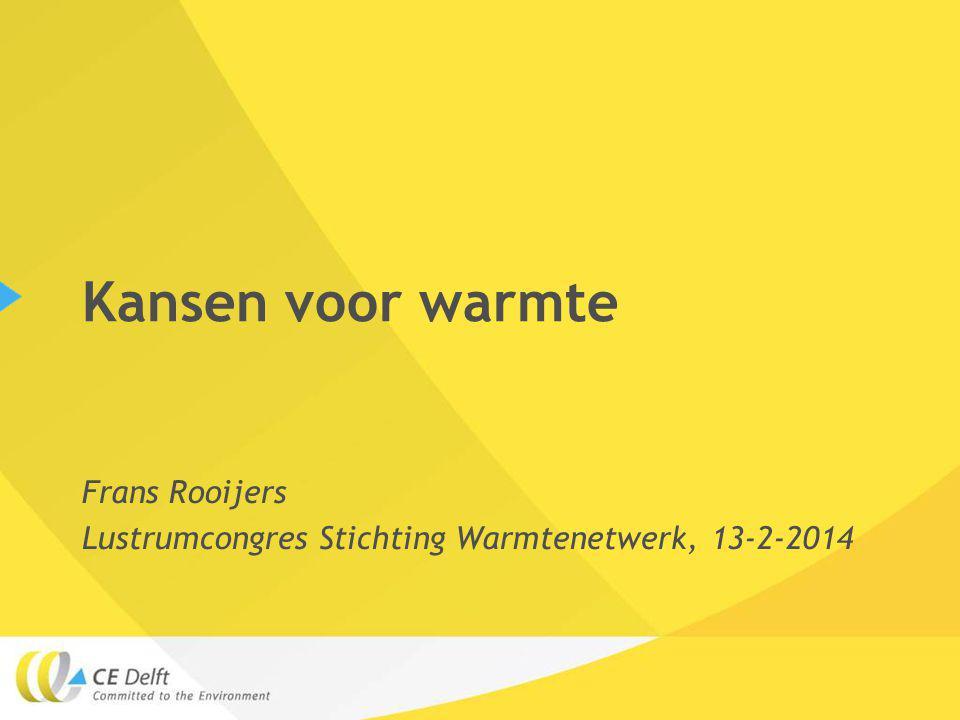 Frans Rooijers Lustrumcongres Stichting Warmtenetwerk, 13-2-2014