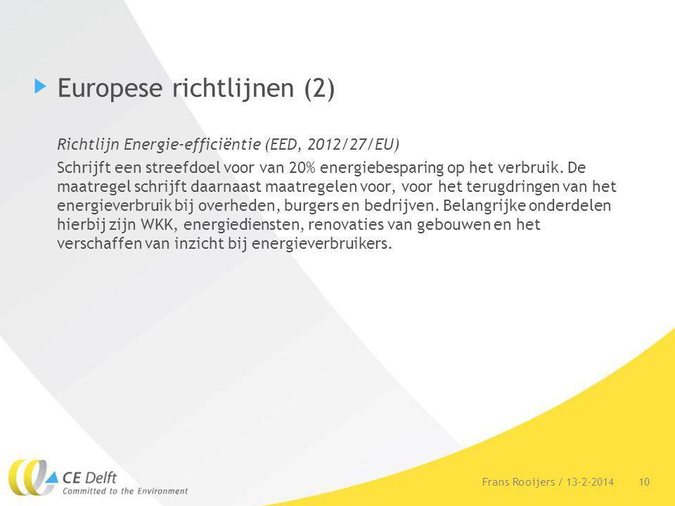 Europese richtlijnen (2)