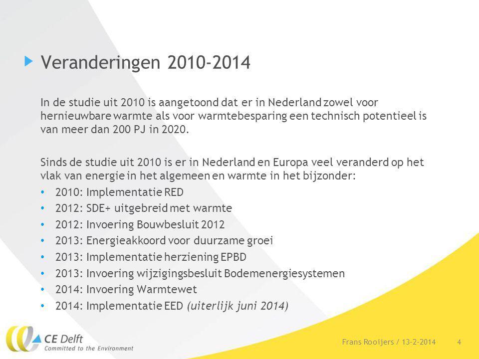Veranderingen 2010-2014