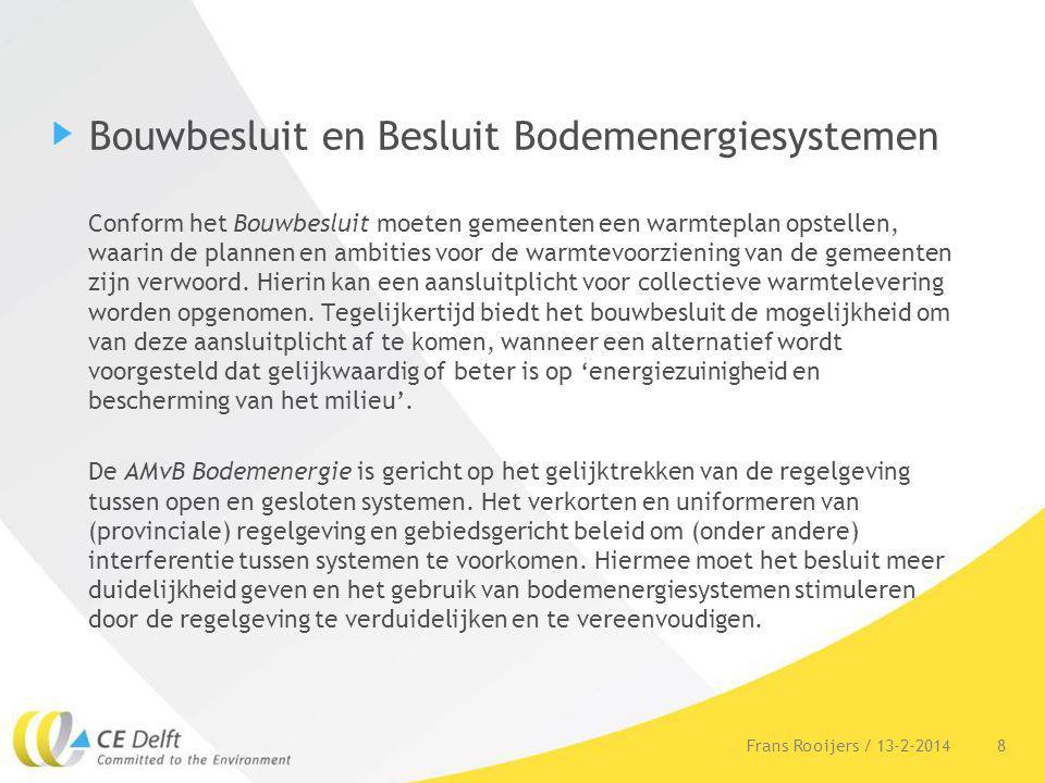 Bouwbesluit en Besluit Bodemenergiesystemen