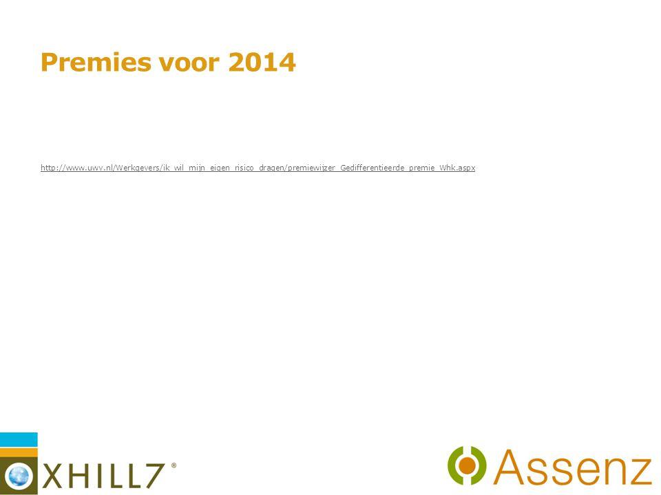 Premies voor 2014 http://www.uwv.nl/Werkgevers/ik_wil_mijn_eigen_risico_dragen/premiewijzer_Gedifferentieerde_premie_Whk.aspx.