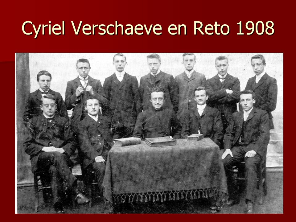 Cyriel Verschaeve en Reto 1908