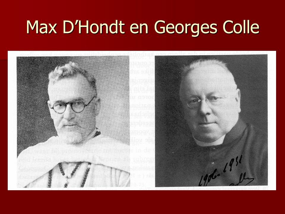 Max D'Hondt en Georges Colle