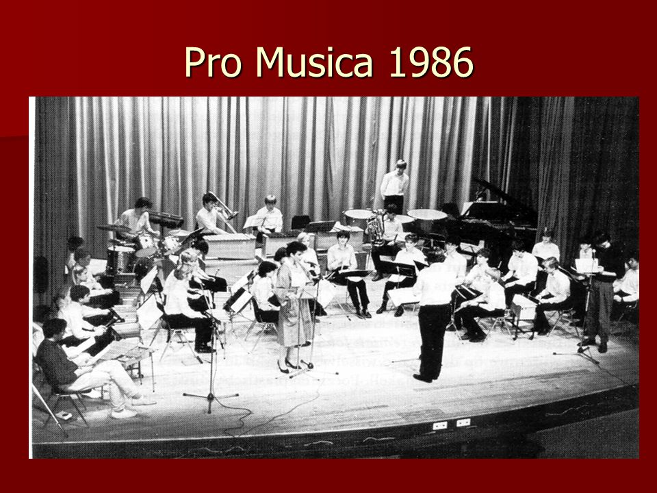 Pro Musica 1986