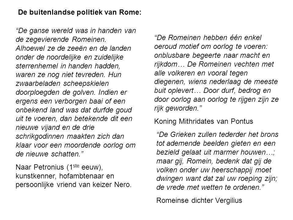 De buitenlandse politiek van Rome: