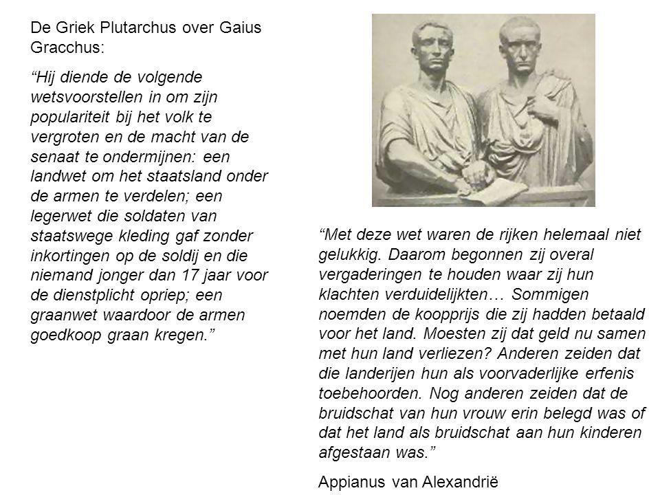 De Griek Plutarchus over Gaius Gracchus: