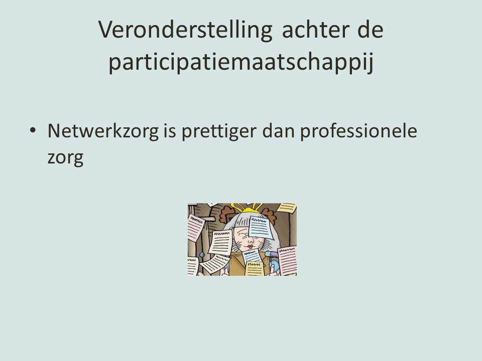 Veronderstelling achter de participatiemaatschappij