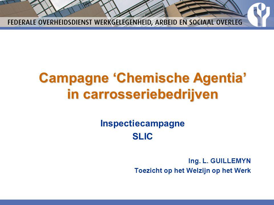 Campagne 'Chemische Agentia' in carrosseriebedrijven