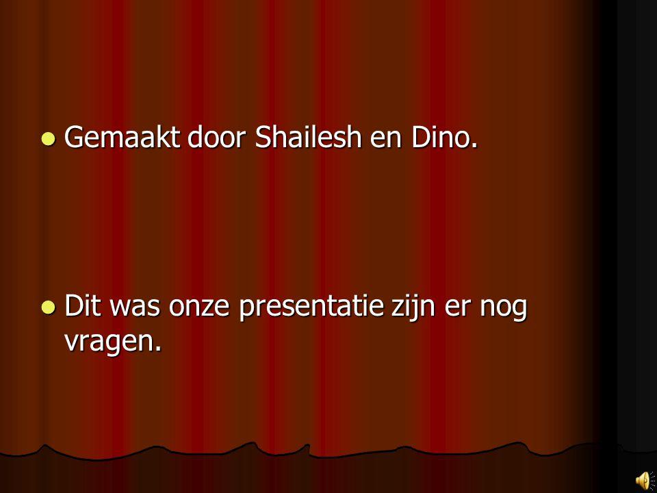 Gemaakt door Shailesh en Dino.
