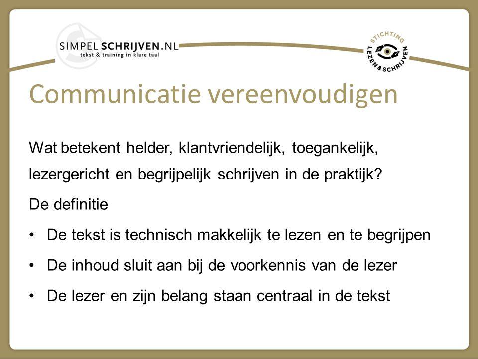 Communicatie vereenvoudigen