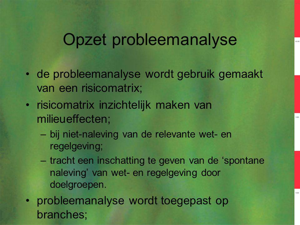 Opzet probleemanalyse