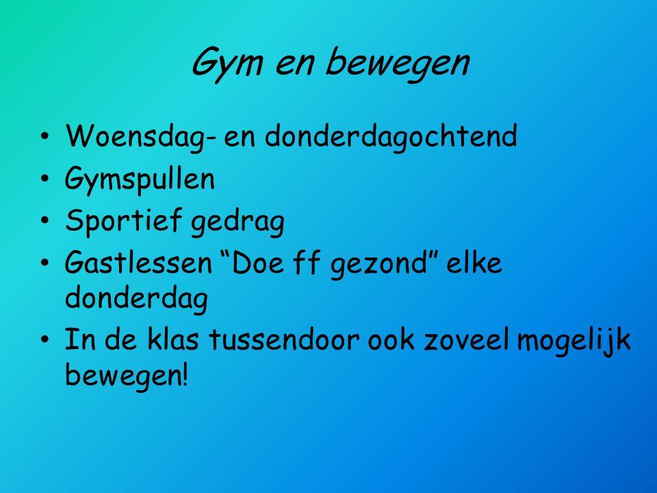 Gym en bewegen Woensdag- en donderdagochtend Gymspullen