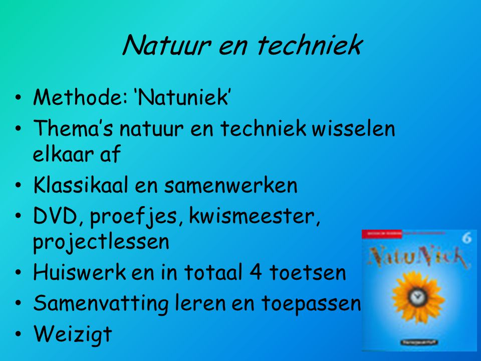 Natuur en techniek Methode: 'Natuniek'