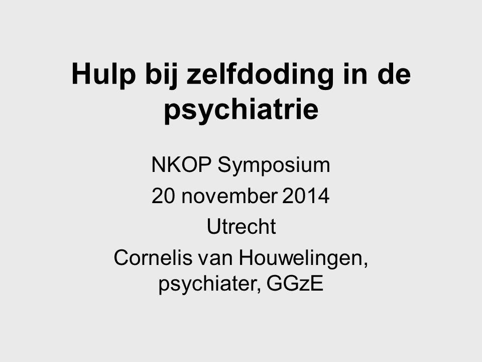 Hulp bij zelfdoding in de psychiatrie
